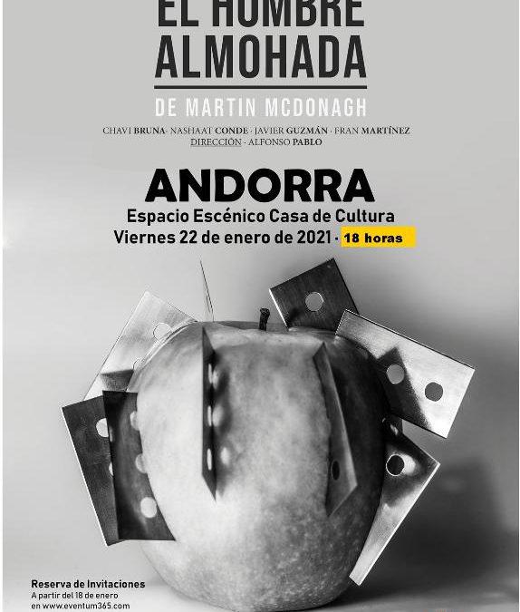 El HOMBRE ALMOHADA de Teatro Pezkao el viernes 22 de enero en Andorra dentro del FAN (Festival Aragón Negro)
