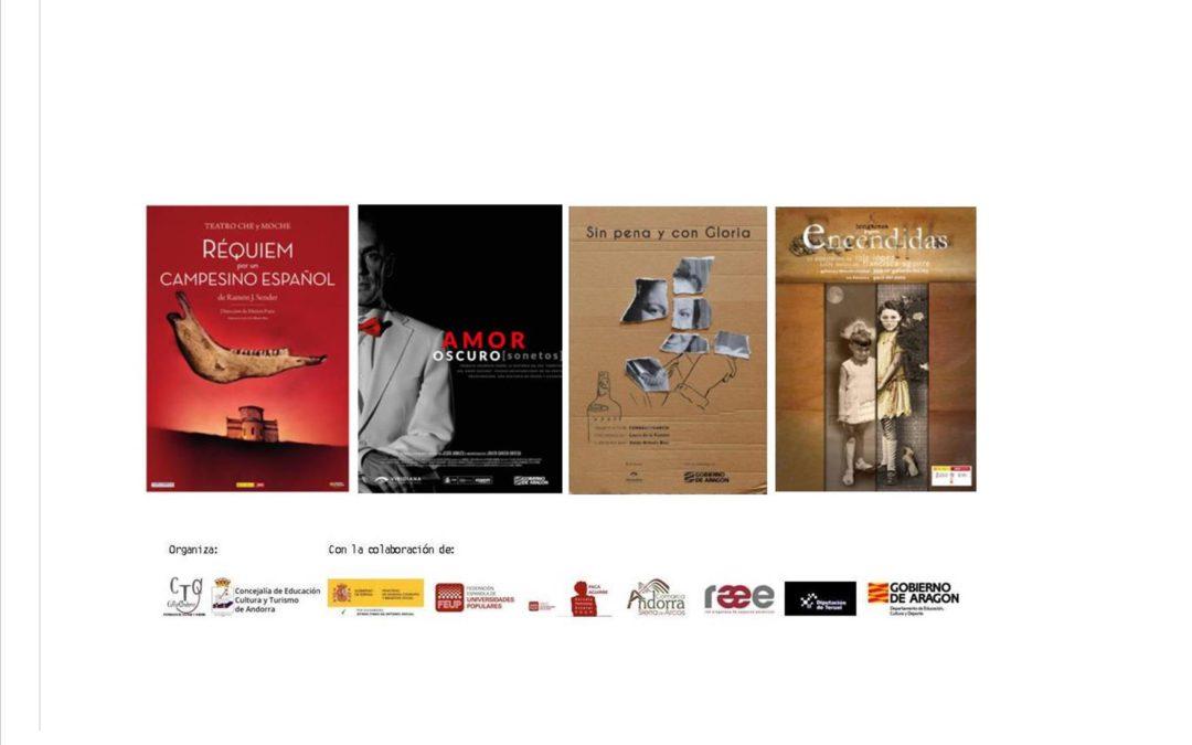 Ciclo de Teatro Escena&Poesía (febrero-marzo 2021) Andorra (Teruel)