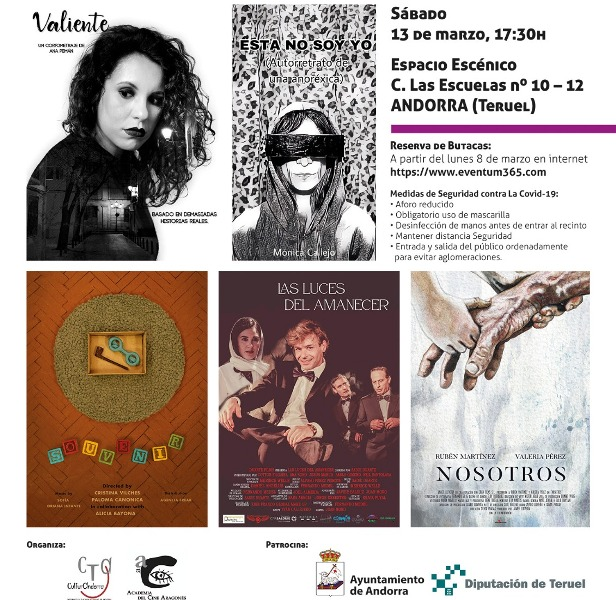 ARAGONESAS DE CINE- proyección de cortos realizados por cinco aragonesas en Andorra. Sábado 13 de marzo.